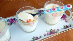 Γιαουρτογλυκό ψυγείου με ζελέ και φρέσκα φρούτα, εύκολο και γρήγορο! Pudding, Desserts, Food, Flowers, Shed, Tailgate Desserts, Deserts, Custard Pudding, Essen