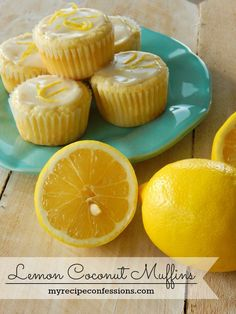 Do yourself a favor and make these Lemon Coconut Muffins ASAP! They are so moist and refreshing! And the glaze on top takes it to a whole new level! You can find more mouth watering recipes @ http://myrecipeconfessions.com/