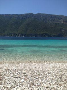 Agrilia Beach, Meganisi. Fifty tropical shades of blue!