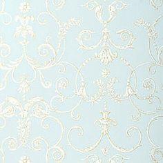 harald gl ckler deux vliestapete 54419 barock krone blau. Black Bedroom Furniture Sets. Home Design Ideas