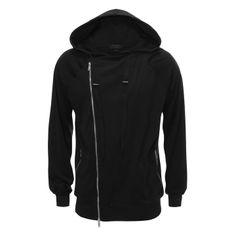 ALEXANDER MCQUEEN Knitwear Asymmetric Zip-Up Hooded Sweatshirt