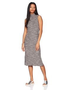 Roxy Women's Hello Fall Bodycon Long Sleeve Dress >>> Read more at the image link. (This is an affiliate link) Vestidos Junior, Junior Dresses, Ribbed Knit Dress, Hello Autumn, Fall Sweaters, Dress Brands, Fashion Brands, High Neck Dress, Dresses For Work