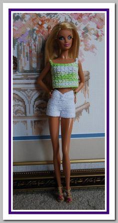 Barbie basics Summer Crochet Dress by JanCrocheted