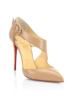 CHRISTIAN LOUBOUTIN Sharpeta 100 Leather Pumps. #christianlouboutin #shoes #pumps