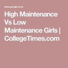 High Maintenance Vs Low Maintenance Girls | CollegeTimes.com