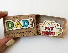 Vatertagskarte - Dady, du bist mein Held - lustige Vater-Tageskarte - Bear Vater-Karte