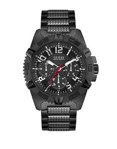 Guess Frontier Metal Bracelet Watch Men's Black