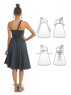Essential Infinity Dress in Orion Blue - How to wrap an infinity dress - The perfect bridesmaid dress