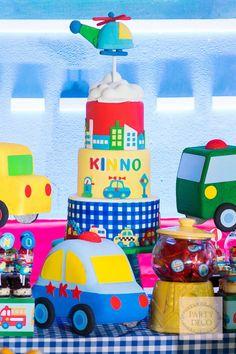 Kinno's Transportation Themed Party – Dessert spread
