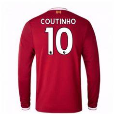 Liverpool Philippe Coutinho 10 Koszulka Podstawowych 2017-2018 Długi Rękaw Liverpool, Manchester United, Mario, Premier League, 18th, Sweatshirts, Sports, Sweaters, Tops