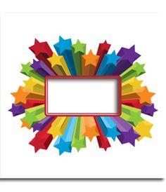 Marco para fotos de estrellas de colores horizontal, en el que puedes poner tu foto de fondo. www.fotoefectos.com