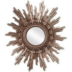 Howard Elliott Chelsea Starburst Mirror - Antique Silver - 20W x 26H in.