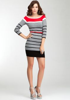 Striped sweater dress-the white and blue is cuter, but can't pin it..