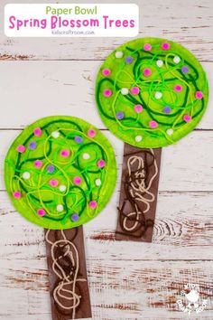 This Paper Bowl Spring Tree Craft is so pretty. Make gorgeous blossom trees from paper bowls and yarn! A lovely tactile spring craft for preschoolers. #kidscraftroom #kidscrafts #springcrafts #cherryblossom Tree Crafts, Flower Crafts, Blossom Trees, Cherry Blossom, Paper Bowls, Spring Tree, Spring Crafts For Kids, Preschool Crafts, Activities For Kids