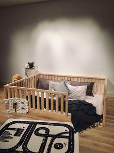 Birch Hardwood BED Toddler bed Play bed frame Children bed Bunk bed Wood Floor bed Wooden bed Wood M Full Size Toddler Bed, Toddler Floor Bed, Toddler Bed Frame, Diy Toddler Bed, Kids Bed Frames, Toddler Rooms, Wooden Toddler Bed, House Frame Bed, Diy Bed Frame