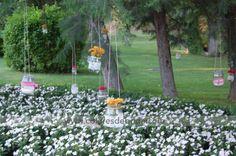 Botes colgados con flores #bodascdb