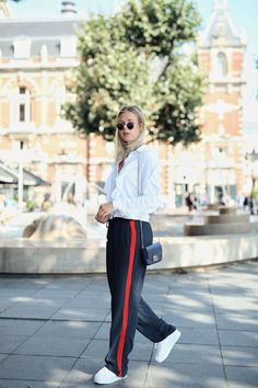 0c869cb6 34 Best Track Pant // How to Wear images | Fashion outfits, Feminine ...