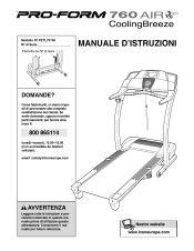 ProForm 760 Air Treadmill | Italian Manual