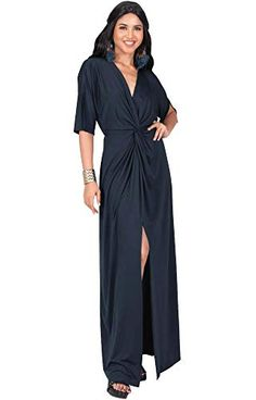 6047606757f3 KOH KOH Plus Size Womens Long Sexy VNeck Short Sleeve Cocktail Evening Bridesmaid  Wedding Party Slimming Casual Summer Maxi Dress Dresses Gown Gowns Maroon  ...