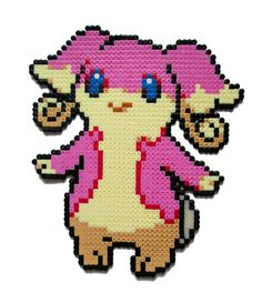 Audino Pokemon perler bead sprite by AenysBeadArt on Etsy
