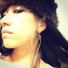 My own #earrings by #PLAFU PLAFUさんにオリジナル #ピアス を作っていただきました❤︎ #accessories #handmade #eclipse #diamondring #皆既日食 #ダイアモンドリング #Komon #ต่างหู http://plafu-shop.com