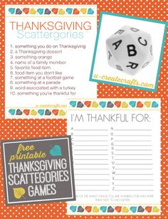 Thanksgiving Minute To Win It Games - U Create