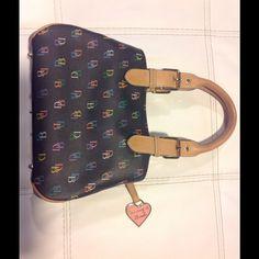 ⬇️Price Drop⬇️D&B black satchel (NWOT) NWOT/ Black D&B rainbow satchel Dooney & Bourke Bags Satchels