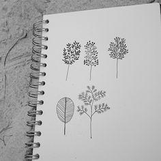 Sketch book doodles.  #sketchbook #illustration #tree #ink #rynfrank