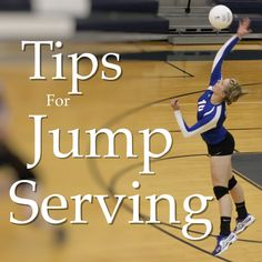Jump Serving Tips One of the most exciting things to learn how to do in volleyball, is to jump serve. This skill often comes after you've been aquatinted with t Volleyball Training, Volleyball Serving Drills, Volleyball Hitter, Volleyball Drills For Beginners, Spike Volleyball, Volleyball Skills, Volleyball Practice, Volleyball Games, Deporte