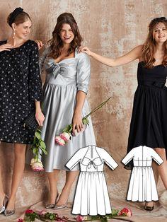 52ac2b4e1c4 Sweetheart Party Dress (Plus Size) 03 2016  136  burdastyle  sew