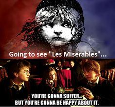 Accurate. Les Mis & Harry Potter.