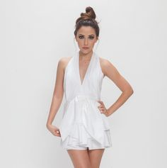 This playsuit has a flattering silhouette and a knot at the waist for an hourglass effect  CONQUER SHIRTING PLAYSUIT http://bit.ly/2vx11ap