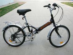 Columba 20 Alloy Folding Bike w. Shimano 7 Speed Black (R20A_BLK)