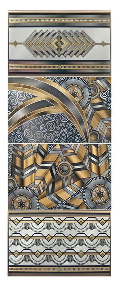 Would make great Art Deco rugs, wall art, or stain-glass-windows