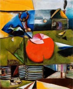 Russian Village Under the Moon - Marc Chagall