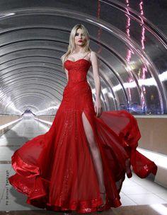 Rami Salamoun - red dress - 2012