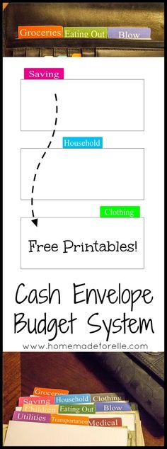Free cash dividers for a cash envelope system.  Save money on groceries by using a cash budgeting system!