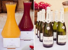 Breakfast or Brunch Bubbly Bar - offer a variety of flavors (peach puree, strawberry puree, raspberry puree, orange juice, etc) to mix with champagne