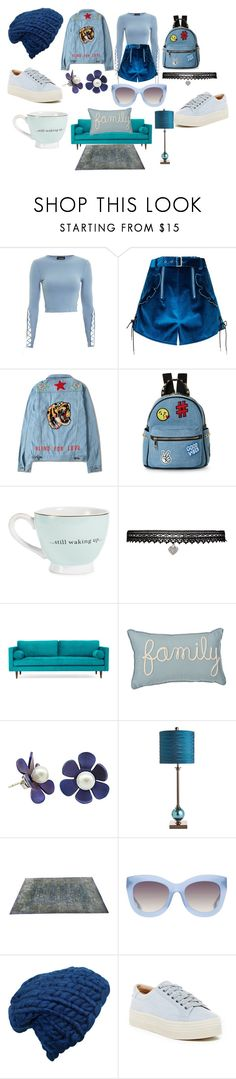 """Teagan"" by afia-asamoah ❤ liked on Polyvore featuring Topshop, self-portrait, IMoshion, Betsey Johnson, Joybird, Pier 1 Imports, Safavieh, Alice + Olivia, Marc Fisher LTD and coolness"
