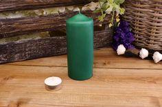 Κεριά Κυλινδρικά Πράσινα Φ6x15εκ Pillar Candles, Taper Candles