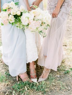 Show off the shoes! http://www.stylemepretty.com/2016/07/13/the-groom-built-his-bride-the-sweetest-wedding-day-surprise/   Photography:Rachel Solomon Photography