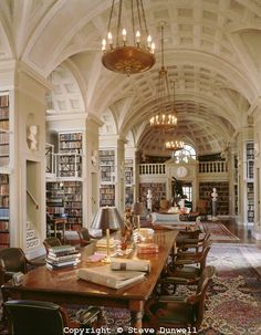 Reading room of the Boston Atheneum, Boston, MA.