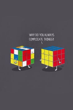 To Rubric's cube to another Rubric's cube De un cubo Rubik a otro...