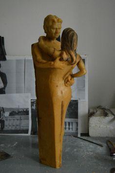 Wax model before getting cast into bronze