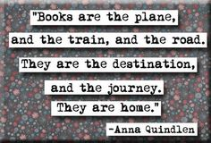 I love these words. BOOKS. Delicious books.