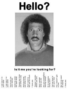 Hello? #LionelRichie