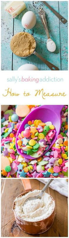 How to measure all of the common baking ingredients including the #1 mistake you could be making when measuring flour!