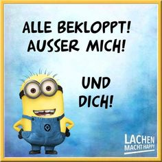 Happy Minions, Minion S, Lachen Macht Happy, Minions Quotes, Lol, Sayings, Funny, Fictional Characters, Smileys