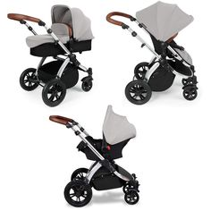 ickle bubba Stomp V2 Silver 3-in-1 Travel System (Silver)