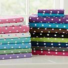 Lavender or Purple Polka Dot Sheets -- too cute.